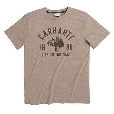 Carhartt Boys' Desert Heather Life on the Trail Tee - front