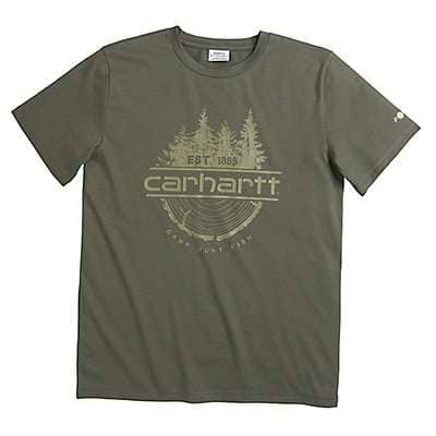 Carhartt Boys' Thyme Carhartt Force® Camp Fish Hunt Tee - front