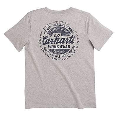 Carhartt Boys' Grey Heather Carhartt Workwear Tee - front