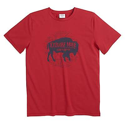 Carhartt Boys' Tango Red Carhartt Force® Explore More Tee - front