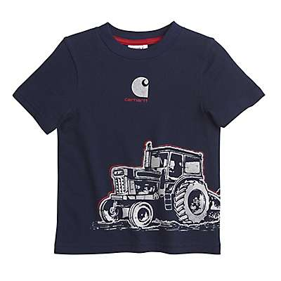 Carhartt Boys' Navy Tractor Wrap Tee - front