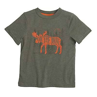 Carhartt Boys' Thyme Heather On the Move Tee - front