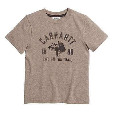 Carhartt Boys' Desert Heather Life On the Trail Tee - front