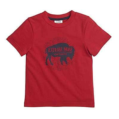 Carhartt Boys' Tango Red Explore More Tee - front