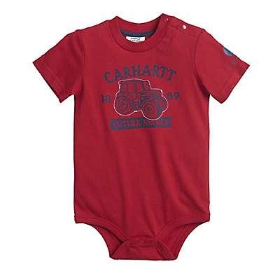 Carhartt Boys' Tango Red Carhartt Farmer Bodyshirt - front