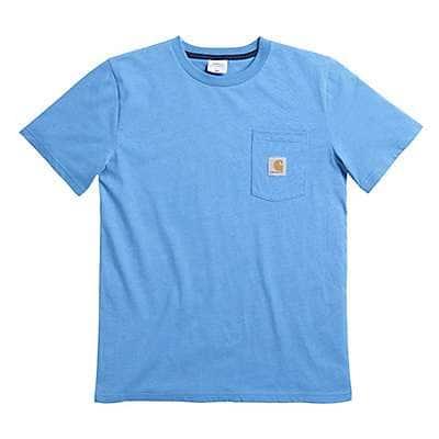 Carhartt Boys' Parisian Blue Short Sleeve Heather Pocket Tee - front