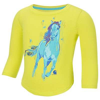 Carhartt Girls' Sulphur Spring Peacock Horse T-Shirt - front