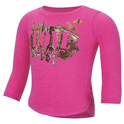 Carhartt Girls' Raspberry Realtree Xtra® Love T-Shirt - front