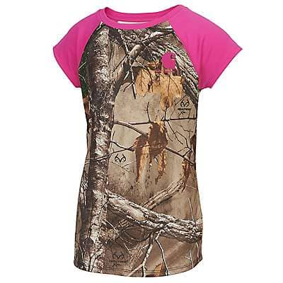 Carhartt Girls' Realtree Xtra Carhartt Force® Pink Camo Tank - front