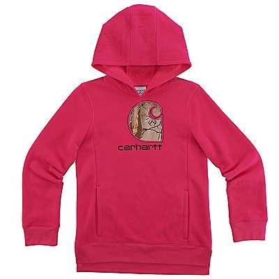 Carhartt Girls' Pink Peacock Camo C Sweatshirt - front