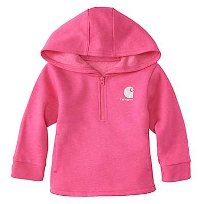Carhartt Girls' Fuschia Purple Heather Heather Fleece Sweatshirt - front