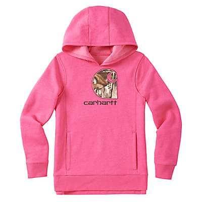 Carhartt Girls' Fuschia Purple Heather Camo C Sweatshirt - front