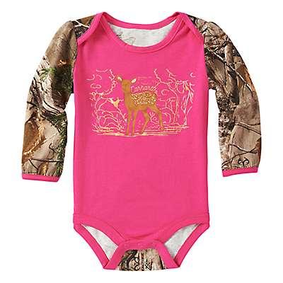 Carhartt Girls' Realtree Xtra Forest Deer Bodyshirt - front