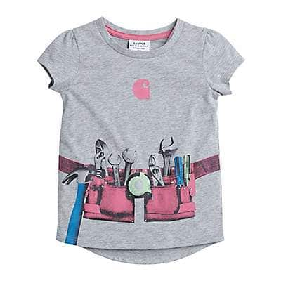 Carhartt Girls' Grey Heather Toolbelt Tee - front