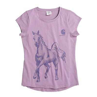 Carhartt Girls' Lavendar Mist Watercolor Horse Tee - front