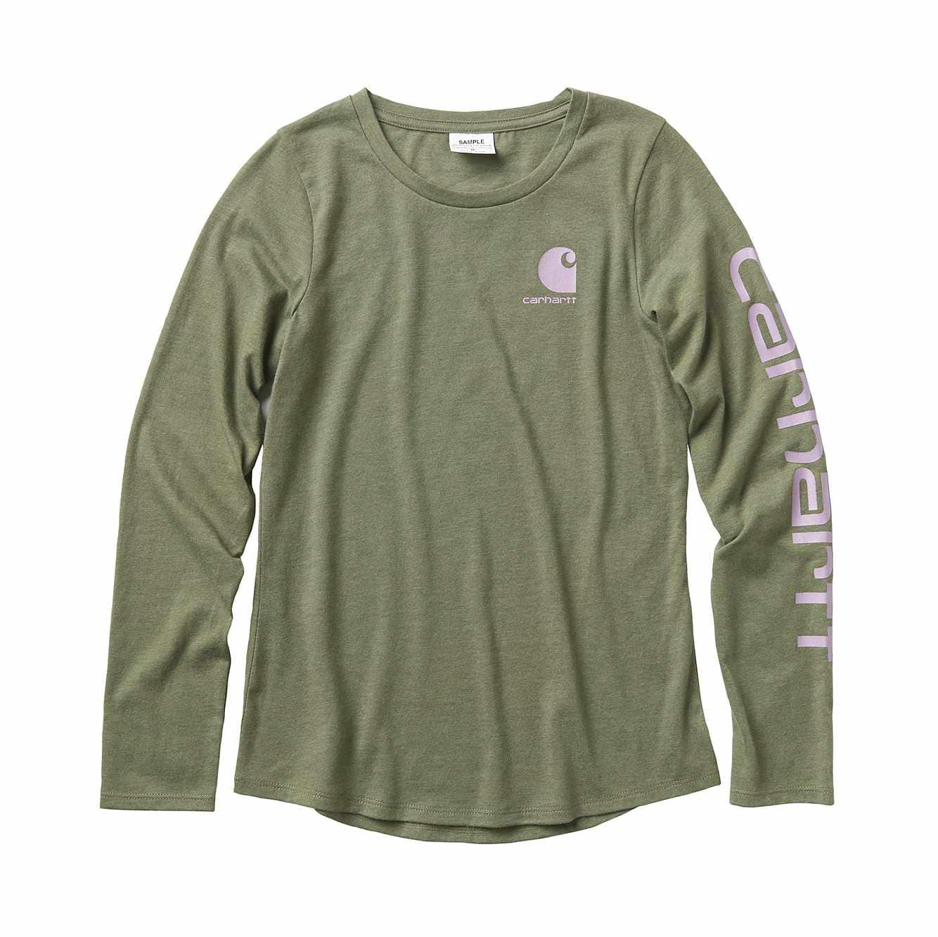 Picture of Carhartt Logo Tee in Olive Heather