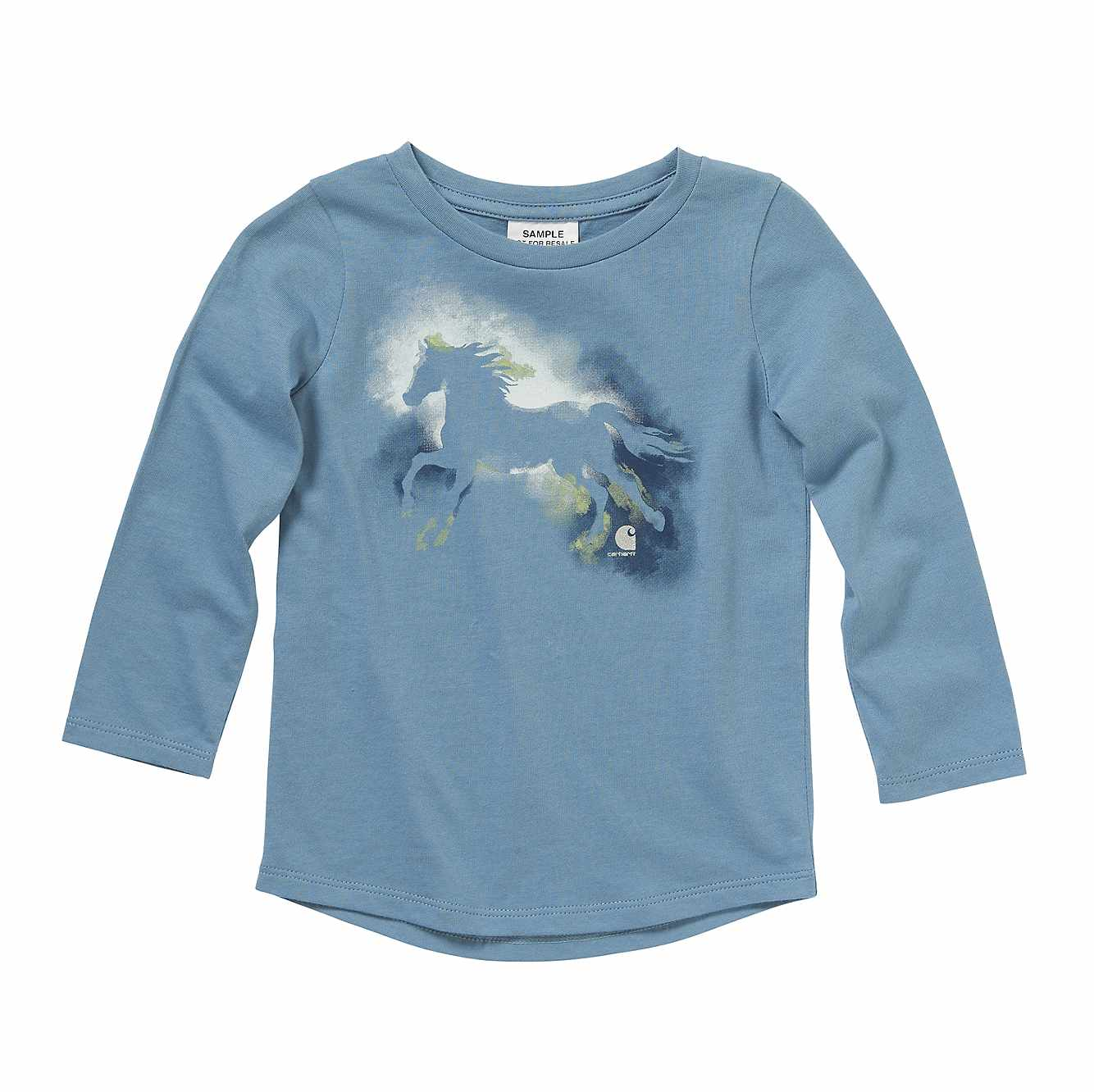 Picture of Watercolor Horse Tee in Blue Heaven