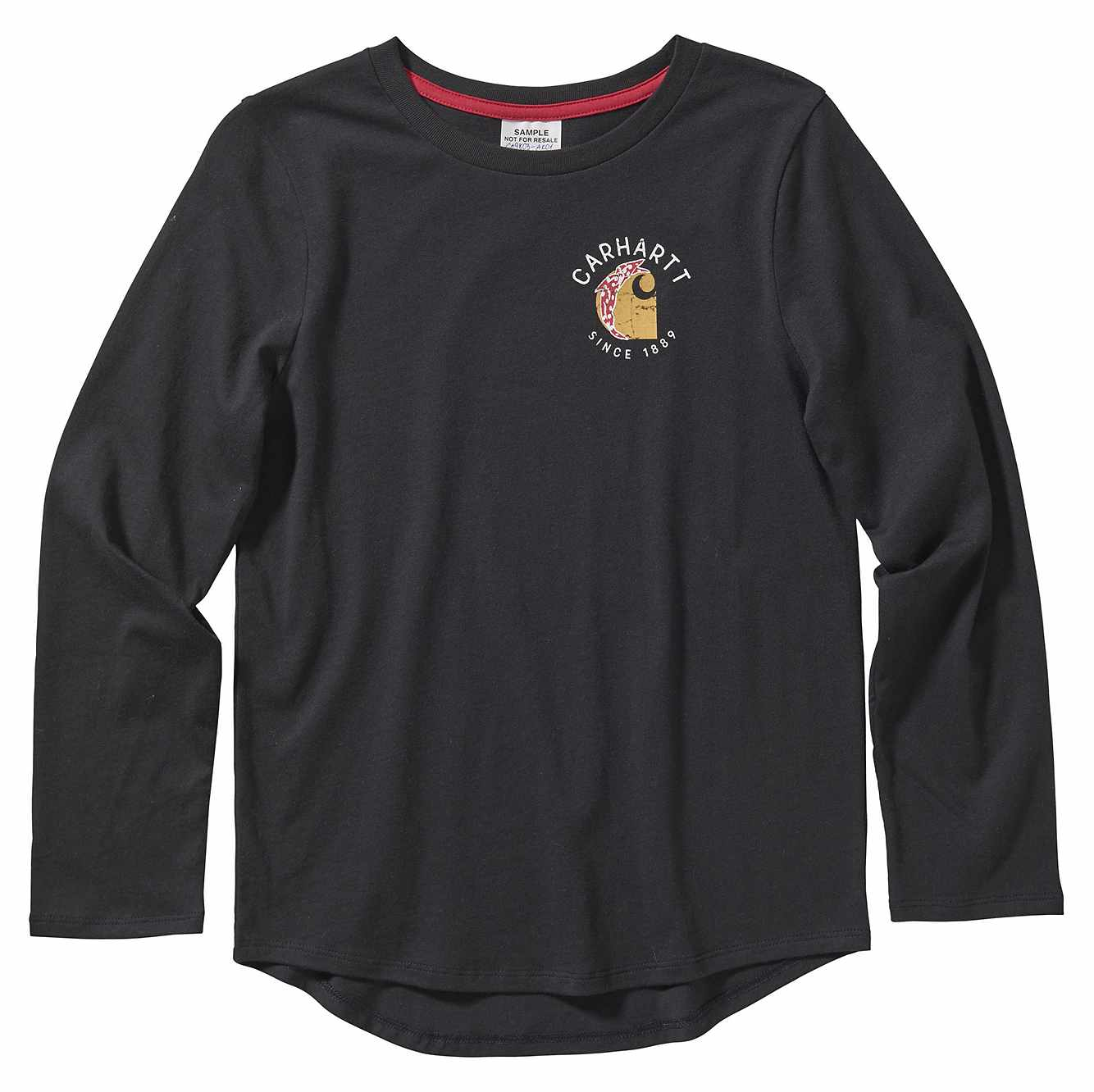 Picture of Long Sleeve Carhartt Graphic Tee in Caviar Black