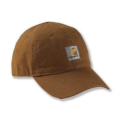 Carhartt Boys' Carhartt Brown Signature Canvas Cap - front