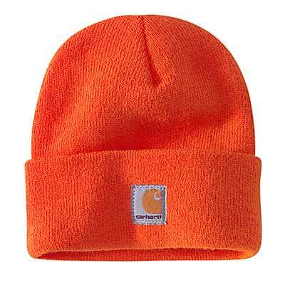Carhartt Unisex Grey Heather Acrylic Watch Hat - front