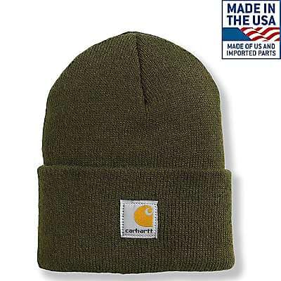 Carhartt Unisex Brite Lime Acrylic Watch Hat - front