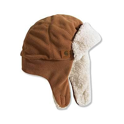 Carhartt Unisex Carhartt Brown Bubba Hat/Sherpa Lined - front