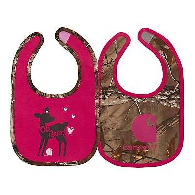 Carhartt Girls' Realtree Xtra Oh deer Camo Bib 2pc Bib gift set - front