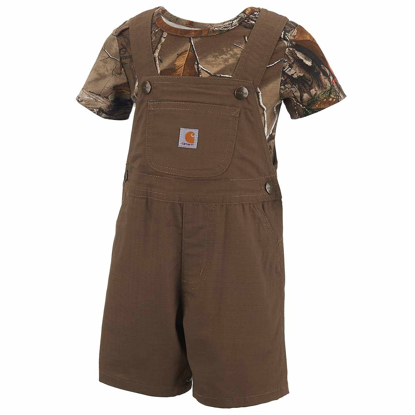 Picture of Infant/Toddler Camo Shortall Set in Canyon Brown
