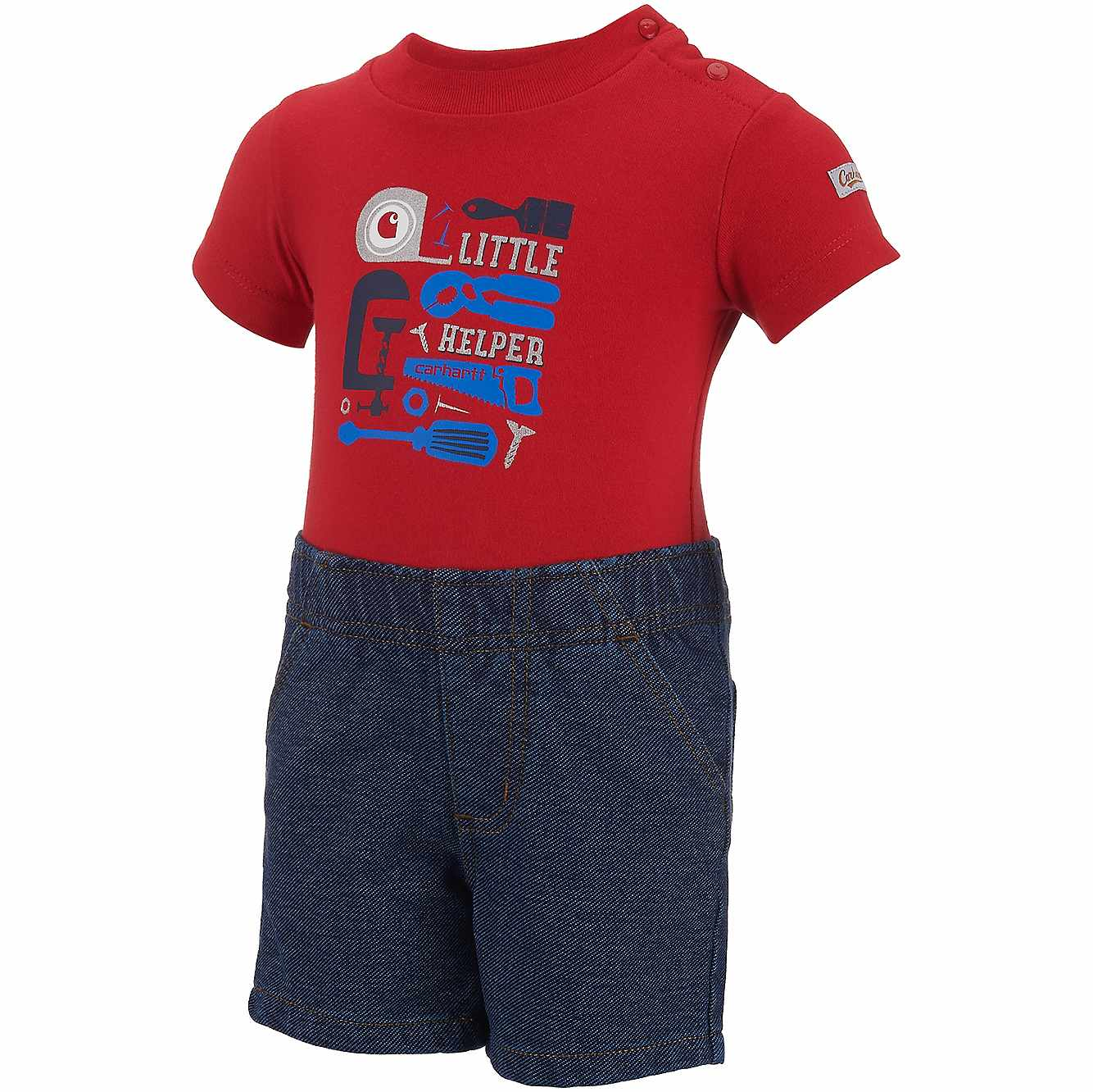 Picture of Infant/Toddler Little Helper 3pc Gift Set in Worn In Blue