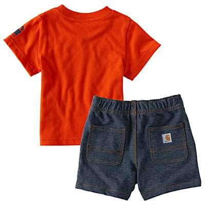Carhartt Boys' Worn In Blue Outride Them All Short Set - back