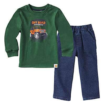 Carhartt Boys' Worn In Blue Off Road Pant Set - front