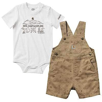 Little Kids Carhartt boys Little Boys Camo Bib Overalls