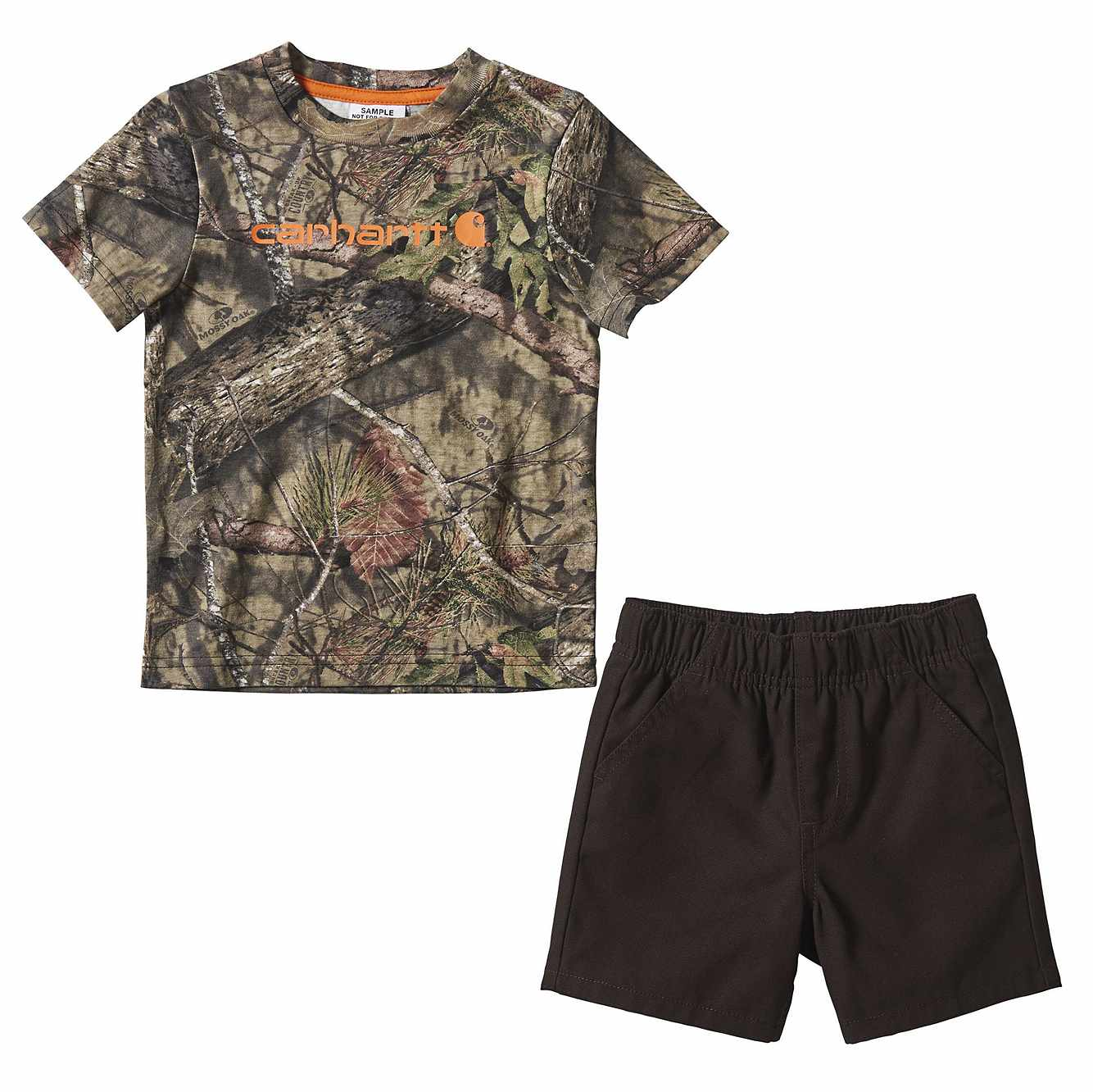 Picture of 2-Piece Camo Short Set in Mustang Brown