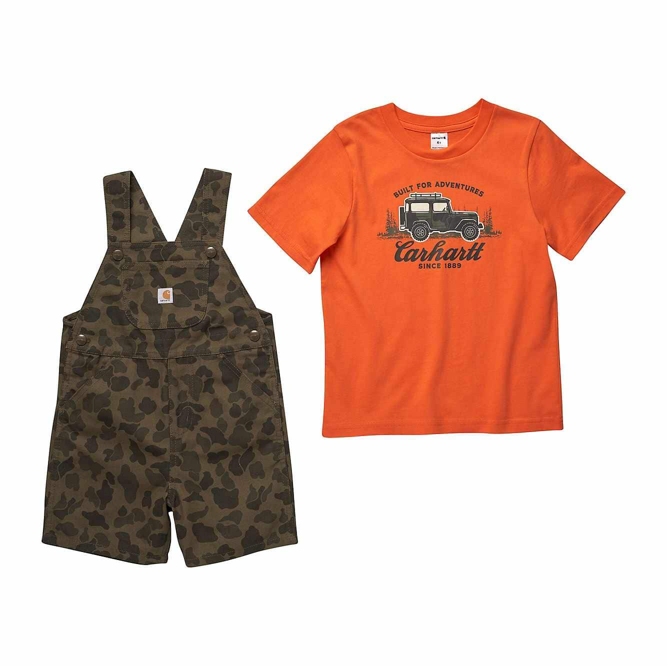 Picture of Camo Shortall Set in Green Camo