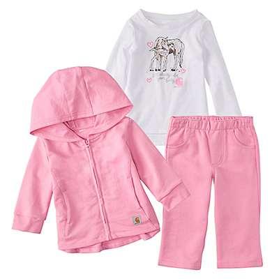 Carhartt Girls' RSM-Rose Bloom 3-Piece Jacket Gift Set - front