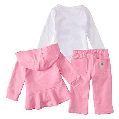 Carhartt Girls' RSM-Rose Bloom 3-Piece Jacket Gift Set - back