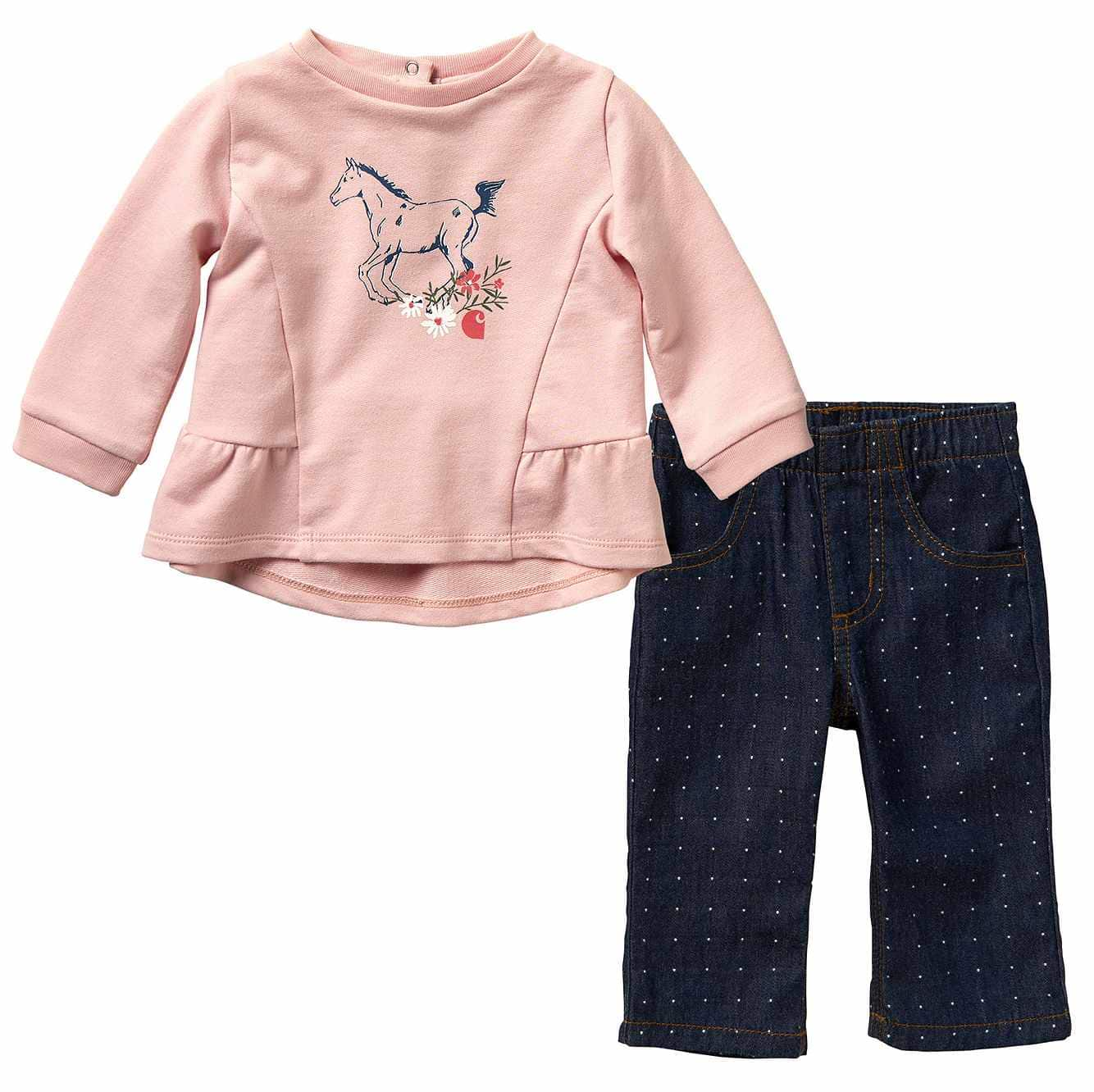 Picture of 2-Piece Dobby Pant Set in Medium Wash