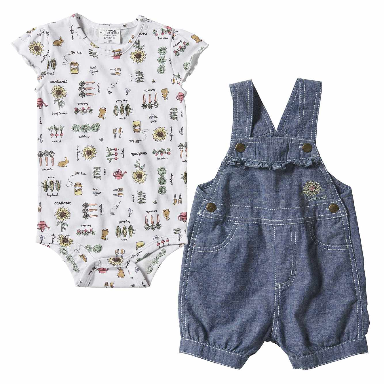 Picture of Sunflower Shortall Set in Chambray