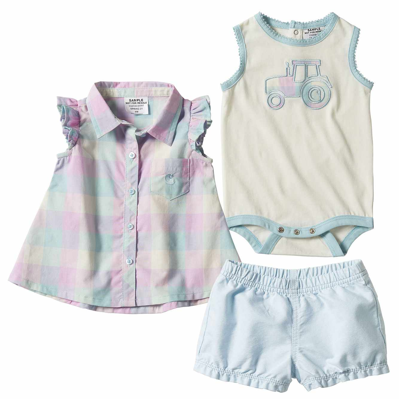 Picture of 3 piece Plaid Short Set in B38