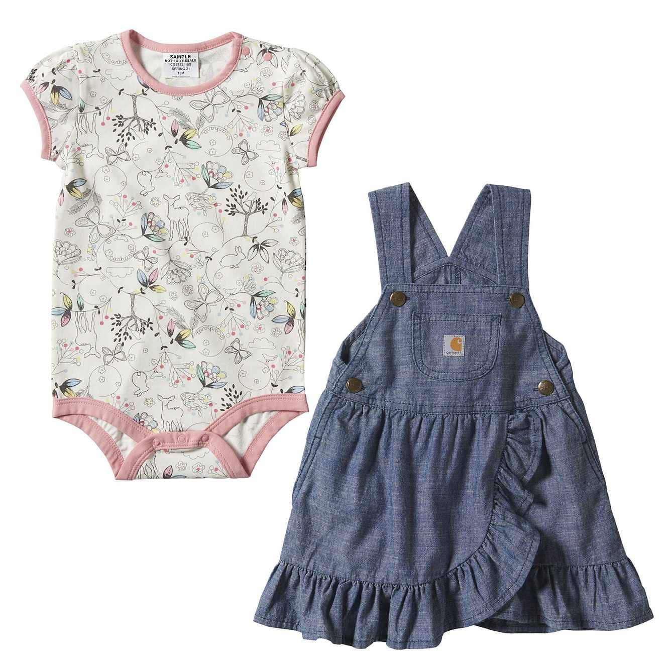 Picture of Chambray Jumper Set in Chambray