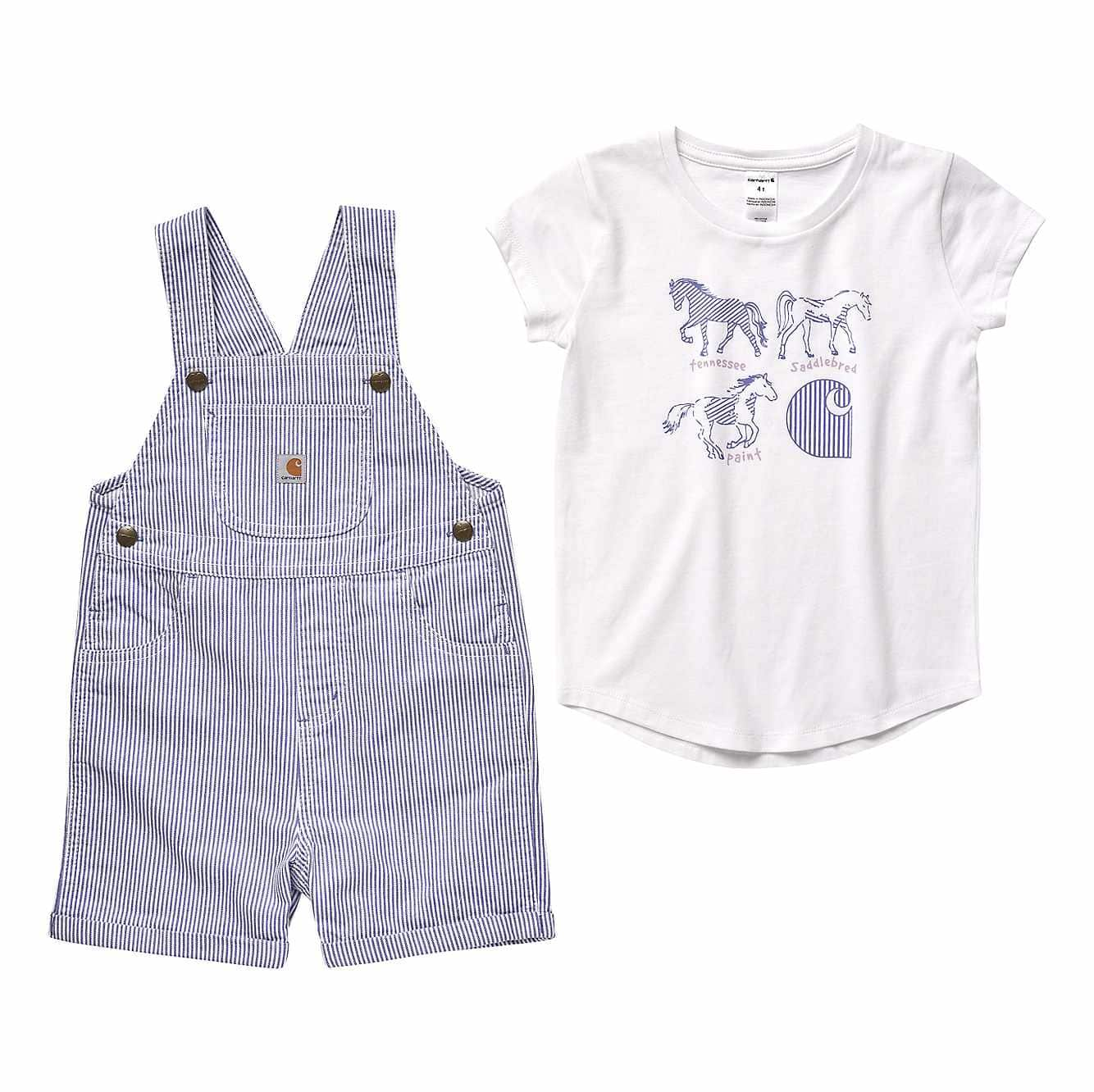 Picture of Ticking Stripe Shortall Set in Lolite