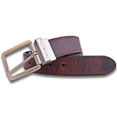 Carhartt Men's Brown and Black Leather Reversible Belt - front
