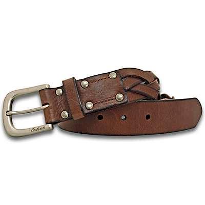 Carhartt Women's Carhartt Brown Rugged Braided Belt - front