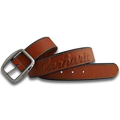 Carhartt Women's Carhartt Brown Raised Logo Belt - front