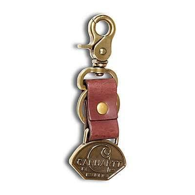 Carhartt Unisex Carhartt Brown Workwear Keychain - front