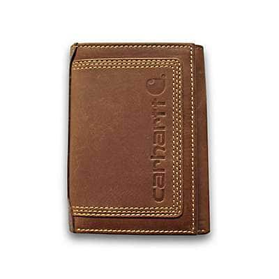 Carhartt  Carhartt Brown Detroit Trifold Wallet - back