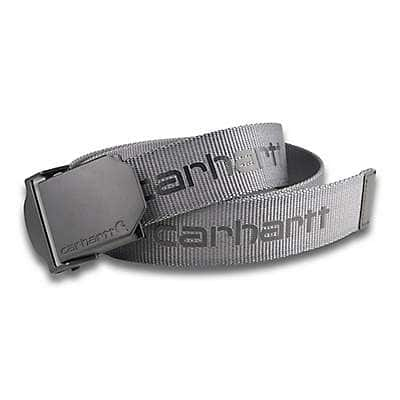 Carhartt Men's Black Signature Webbing Belt - front