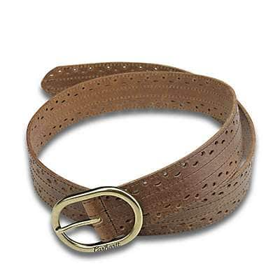 Carhartt Women's Brown Perforated Belt - front