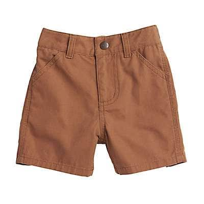 Carhartt Boys' Carhartt Brown Canvas Rigby Short - front