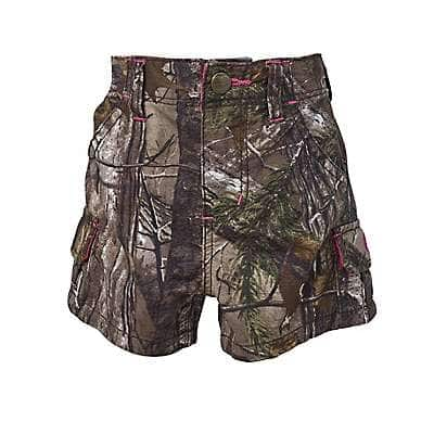 Carhartt Girls' Realtree Xtra Infant/Toddler Camo Short - front